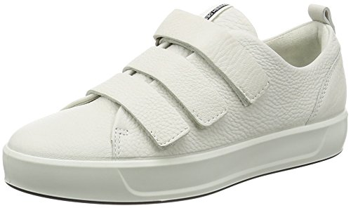 ECCO Damen Soft 8 Ladies Sneaker, Weiß (1007WHITE), 42/42.5 EU