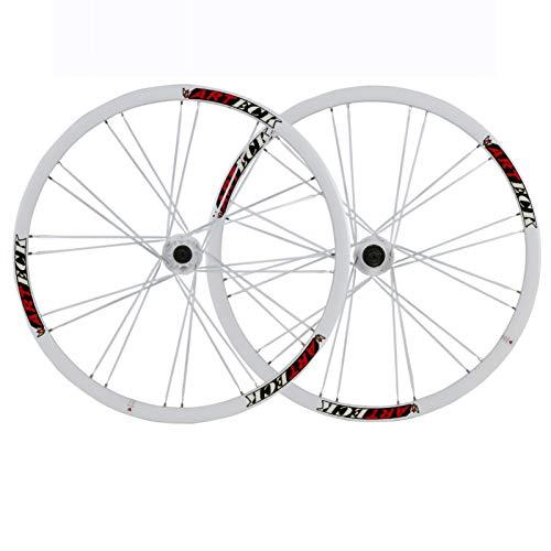 Ruedas Ciclismo,26 Pulgadas Radios de 24 Agujeros Aleación de Aluminio Admite Velocidad 7/8/9/10 Apto para Bicicletas Juego de Ruedas Bicicleta 26 Inch