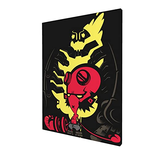 Hellboy The Golden Army 5d DIY Handmade Diamond Painting 11.8x15.7inch Full Circle Diamond Art Crafts Kit Embroidery and Accessories Tool Pins for Room Bedroom Wall Decoration