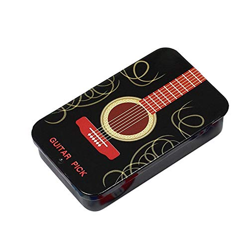 Gitarren Picks Plektren, Plektrum Plektron Picks Für Gitarre Und Bass, Gitarren Pick Halfter Fall Tin Box