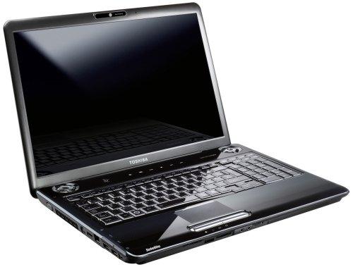 Toshiba Satellite P300-212 43,2 cm (17 Zoll) WXGA+ Laptop (Intel Core 2 Duo T9550 2,7GHz, 4GB RAM, 1000GB HDD, ATI Mobility Radeon HD 4650, DVD+- DL RW, Vista Home Premium) schwarz
