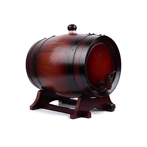 GAXQFEI Barril 10L de Roble, Mini Barril de Cerveza de Alcohol (Barril de Cera sin Forro/de Caucho Fuuml; R Whiskey Oder Wein Brauml; Nde Bier Gebrauches, Barril de Redoak Del Vino,Vino Rojo