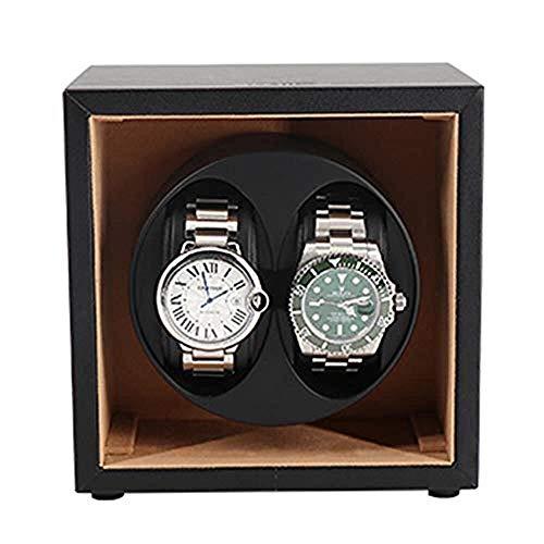 LULUTING Watch Winder Winder Reloj automático Plaza Anti-Stop automática de Doble for 2 diminuto Reloj Duradero a Prueba de Polvo Silencio