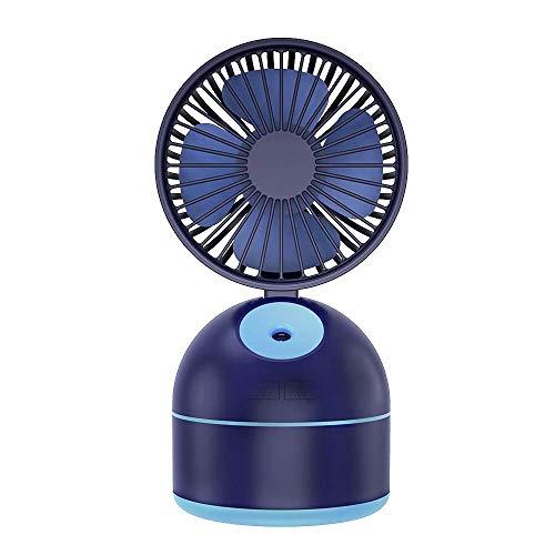 ZQG Mini Ventilador de Mano USB Ventilador de pulverización USB Ventilador Peque?o Hogar Portátil Ventilador Recargable Humidificación de pulverización Regalo Ventilador de refrigeración (Color:Rosa)