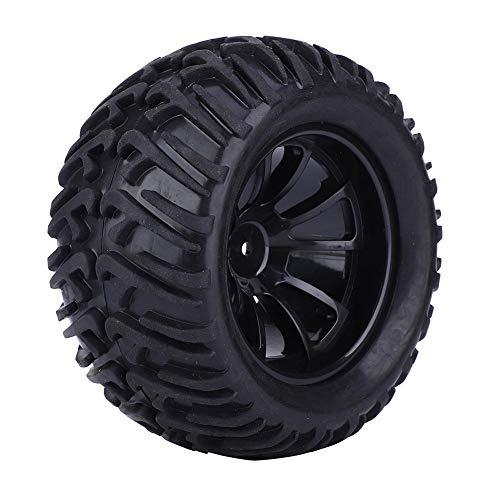 Dilwe RC Rad Reifen, Super Grip 125 mm Y Typ RC Autoreifen Ersatz Zubehör für 1 10 ferngesteuertes Automodell(schwarz )