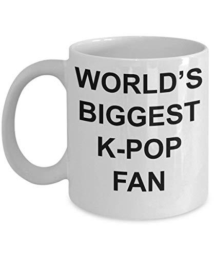 Koreaanse Pop Gift K-Pop Mok 's werelds grootste K-Pop Fan grappige koffiebeker liefhebber beste thema grap cadeau voor mannen vrouwen jongen meisje