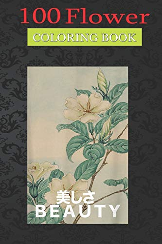 100 Flower Coloring Book: Beauty Japanese Art Vaporwave Coloring Book with Bouquets, Wreaths, Swirls, Patterns, Decorations, Inspirational Designs, and Much More!
