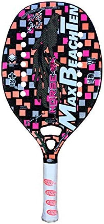 Racchetta da beach tennis racket horse 2020 max beach tennis mbt B082FLT6MT