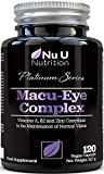 Macu Eye Supplement 120 Vegan Capsules, 4 Month Supply with Lutein, Zeaxanthin, Bilberry