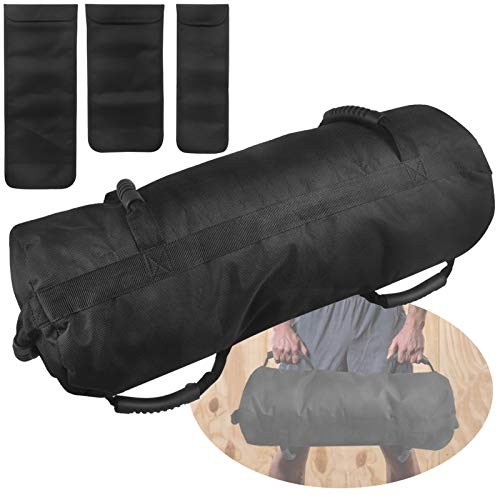 FASPUP Verstellbare Fitness-Sandsäcke mit 3 Innentaschen für funktionelle Intensitätstrainingsübungen von 10 bis 27,2 kg