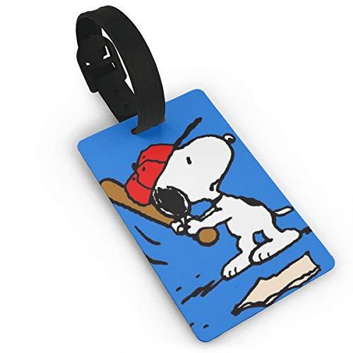 Gepäckanhänger Snoopy Bowling Koffer ID Etiketten Reisezubehör mit abnehmbarem Armband