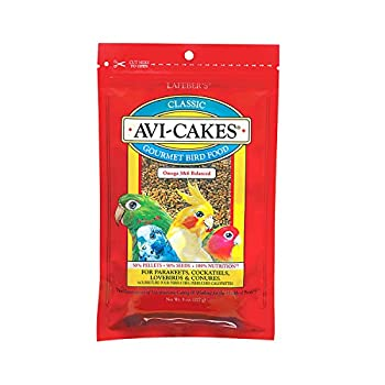 LAFEBER'S Classic Avi-Cakes Nourriture pour Oiseaux de Compagnie, fabriquée avec des ingrédients sans OGM et de qualité Humaine, pour calopsittes, Conures, perruches (perruches), inséparables, 227 g
