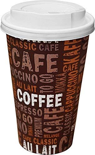 Gastro-Bedarf-Gutheil 100 vasos de café de cartón, 400 ml, vasos desechables desechables...