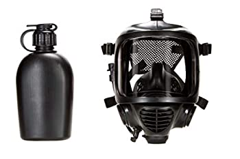 MIRA SAFETY M Certified CBRN Full Face Gas Mask Reusable Respirator Professional Grade  CM-6M Mask with Drinking System
