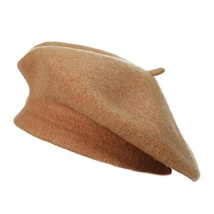 ZLYC clásico francés artista de las mujeres boina sombrero (Color de camello)