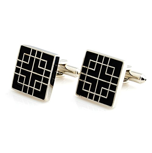 Details about  /Titanium Black Enameled Cuff Links