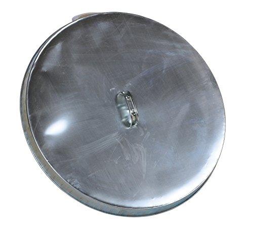 Vestil DC-245-H Open Head Galvanized Drum Cover with Handle, Silver