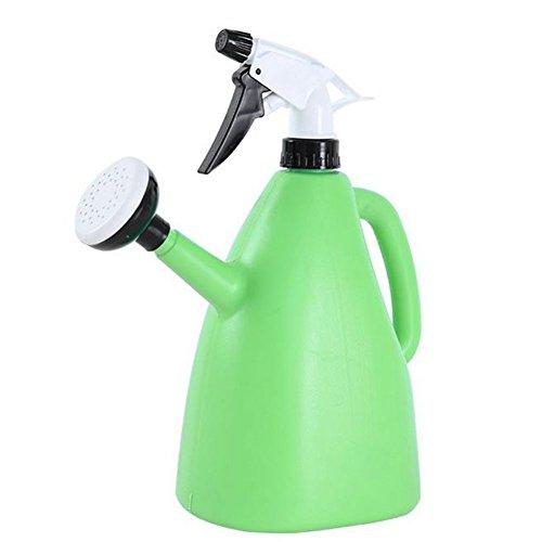 Outflower 1L Double Usage Plastique Arrosoir/Pulvérisateur à Pression à la Main (Vert)