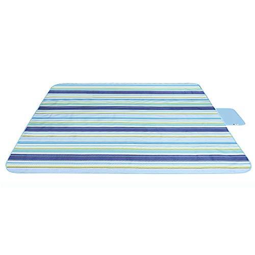 Song6 Strandzelt Matte gestreifte große Picknickdecke Teppich im Freien wasserdichte Boden-Blatt-Auflage für Sommer-Strand-Wandern-Gras-Spielraum 150 x 200 cm Camping Zelt