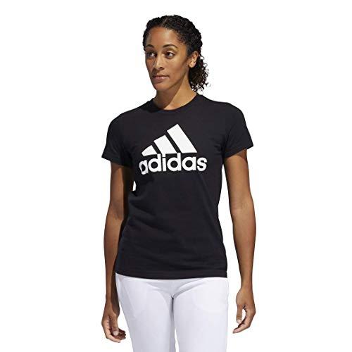adidas Women's Badge of Sport Tee, Core Black/White, Large