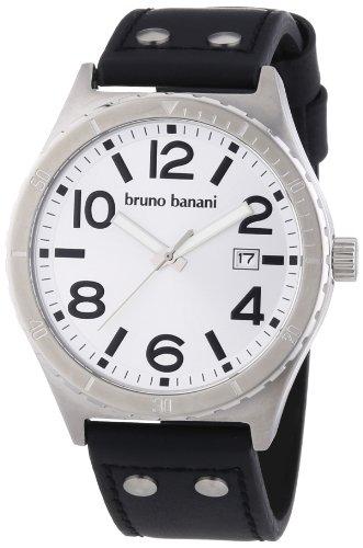 Bruno Banani Herren-Armbanduhr XL Ares Analog Leder BR21021