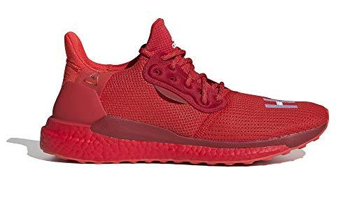 adidas Pharrell Williams PW Solarhu Gryscale - Zapatillas de deporte, color Rojo, talla 45 1/3 EU