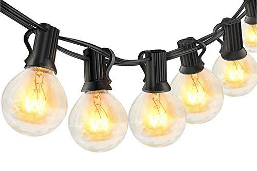 10M Lichterkette Außen mit 30+6 Glühbirnen, Lichterkette Glühbirnen aussen, IP44 Wasserdichte G40 Lichterketten Innen/Aussen als Deko für Garten Balkon Party, Warmweiß