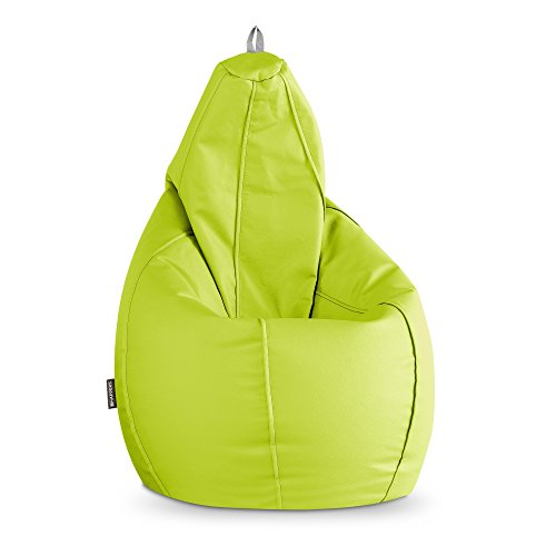 HAPPERS Puff Pera Polipiel Indoor Verde Infantil