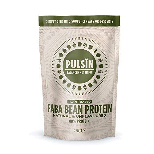 Pulsin, PlantBased Powder Gluten Free Vegan, White, Plant Based Faba Bean Protein