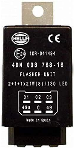 HELLA 4DN 008 768-167 Relais - 12V - 6-polig - gesteckt - elektrisch