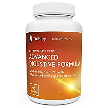 Dr Berg s Advanced Digestive Formula Extra Strength - Contains Both Apple Cider Vinegar Powder + Betaine Hydrochloride - Helps Healthy Digestion Helps Reduce Gas and Bloating - 90 Capsules