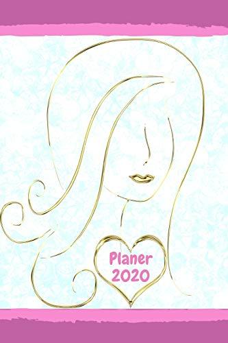 Planer 2020: Terminplaner Monatsplaner und Wochenplaner Terminkalender 2020 Frau Gesicht Silhouette