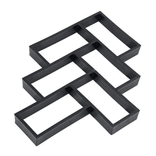 Molde de pavimento reutilizable para pavimento, ideal para jardín, pizarra, cemento, ladrillo, pavimento, losa
