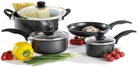 Proctor Silex Nonstick 7 Piece Cookware Set, Black