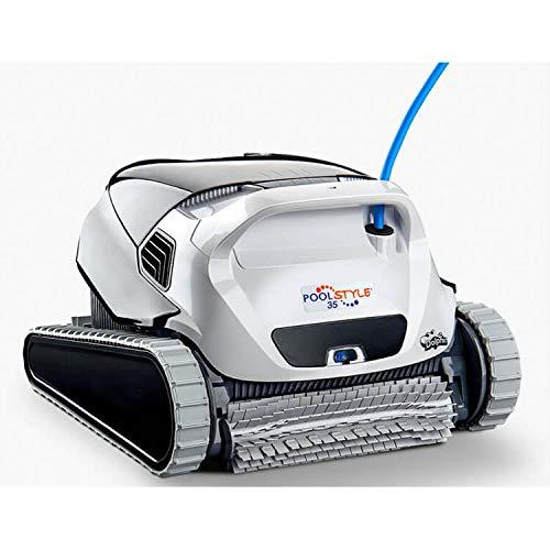 DOLPHIN Maytronics PoolStyle 35 - Robot Limpiafondos de Piscina - Automático - Peso 7,5 Kg - Cable de 18 m con Sistema Anti-Nudos - Piscinas hasta 12 m - Limpia Fondo, Paredes y Línea de Flotación