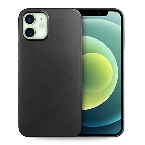 doupi UltraSlim Funda para iPhone 12 Mini (5,4 Pulgada), Finamente Estera Ligero Estuche Protección, Negro