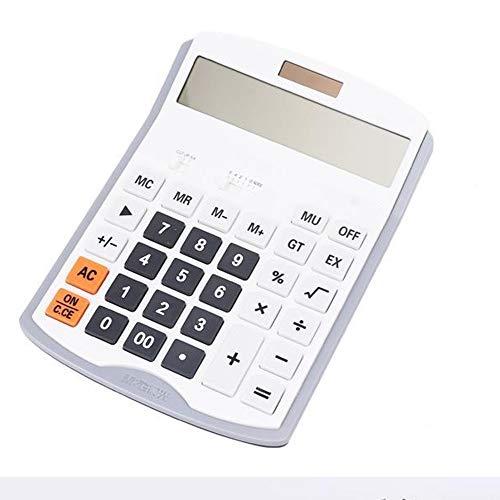 Rekenmachine Calculator Finance Office Supplies Groot Groot scherm Big Button 12 Digit Computer Bedrijfsbureau Geschikt voor thuis en op kantoor (Color : White, Size : 15x20cm)