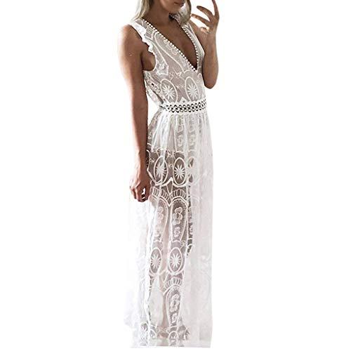 Bfmyxgs💥Frauen Sexy Sleeveless Open Back Lace Kleid Brautjungfer Brautkleid Elegant und Grace Kleid