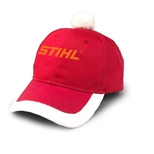 GGdjst Weihnachtsmützen, Stihl Chainsaw Saw Lumber Outdoor Hunt Cabin Sport Christmas Hats Red Santa Baseball Cap for Kids Adult Families Celebrate New Year Party