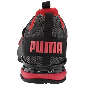 PUMA Men's Axelion Running Shoe, Black-High Risk Red, 10.5