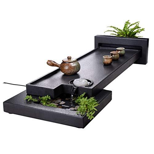Why Choose Tea-For-One Sets Tea Tray Living Room Natural Stone Tea Set Flowing Tea Table Set Black S...