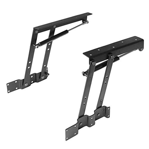 Lift up Top Modern Coffee Table Desk Mechanism Hardware Fitting Convertible Furniture Hinge Spring Stand Rack Bracket 240mm/9.45 Inch (Air-Operated)