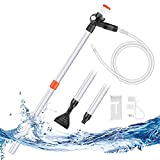 KASAN Aquarium Gravel Cleaner Water Changer with Air Pressure Button That is not Afraid of Wet Hands Fish Tank Sand Cleaner Kit Siphon Vacuum Cleaner Adjustable Length and Water Flow