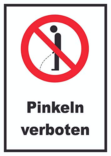 HB-Druck Pinkeln verboten Schild A4 Rückseite selbstklebend