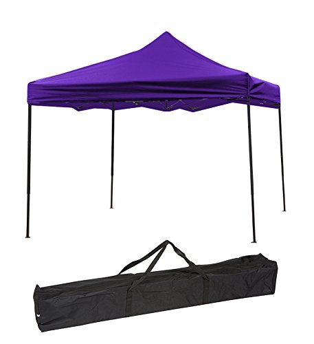 Lightweight & Portable Canopy Tent Set - 10' x 10' - By Simply Sports (Purple Canopy Cover)