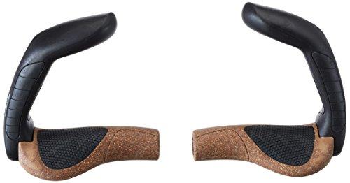 Ergon - GP5 Ergonomische Lock-on Fahrradgriffe mit extra-langem Bar-End | Regular kompatibel | Für Touring & Trekking Bikes | Large | Biokork