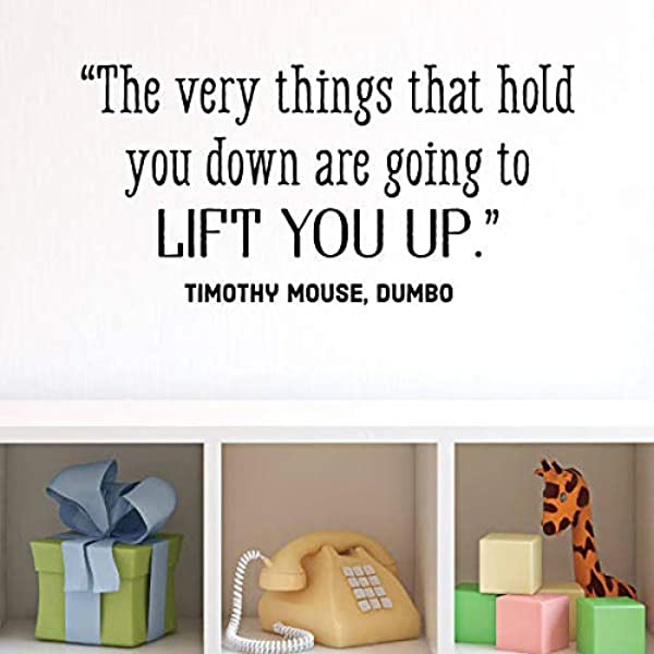 Wall Quote Decal Lift You Up Timothy Mouse Dumbo Disney Nursery Quote Kids Wall Art Decor Vinyl Wall Decal