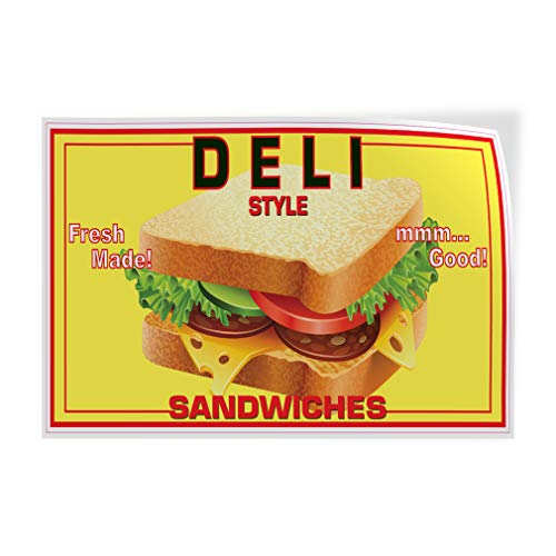 bar sandwiches Decal Stickers Multiple Sizes Deli Sandwiches Restaurant Cafe Bar Industrial Vinyl Safety Sign Label Restaurant & Food 24x18Inches