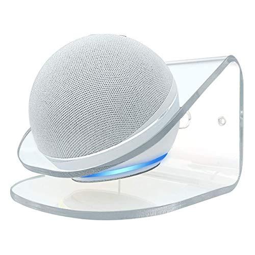 Kovake Soporte para Montaje en Pared para Nuevo Echo Dot (4.ª generación) Altavoz Inteligente | Soporte acrílico Transparente