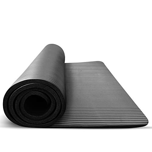 Treadmill Mat for Hardwood Floors Tile and Carpet Protection - Large Rubber PVC Free Pad is Sound Absorbing - Noise Reduction when Running in a Home Gym